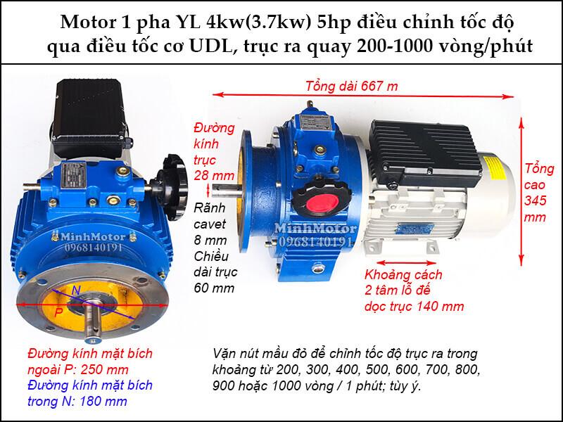 Động cơ điện 1 pha biến đổi tốc độ