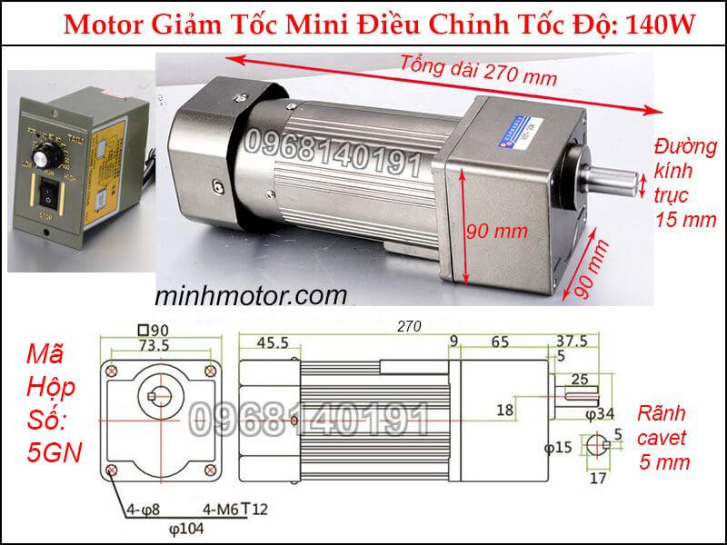 Thông số động cơ điện 1 pha mini