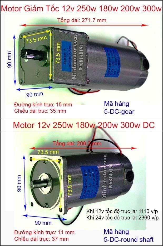 Motor giảm tốc mini điện 1 chiều