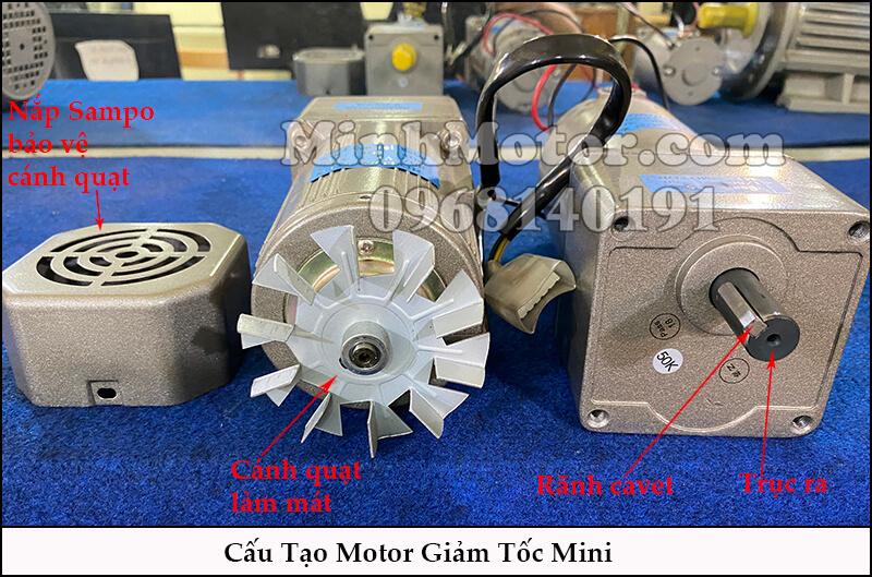 cấu tạo motor giảm tốc mini