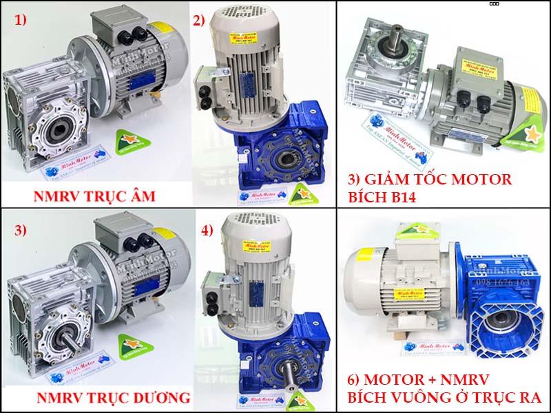Motor hộp số NMRV trục vuông góc