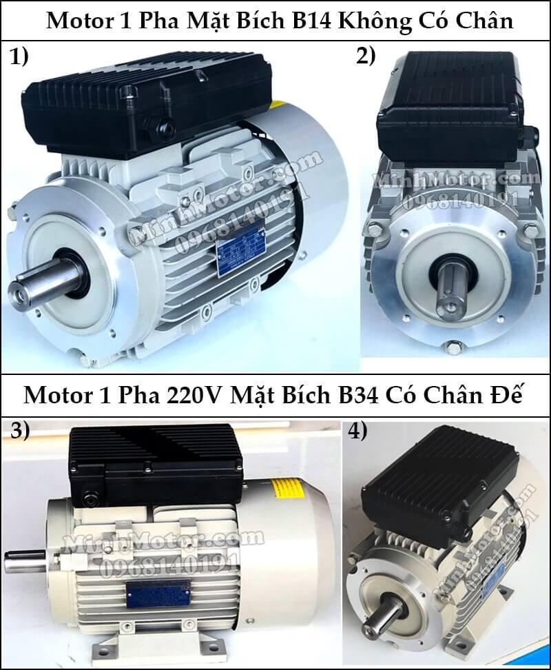 Motor 1 pha mặt bích B14