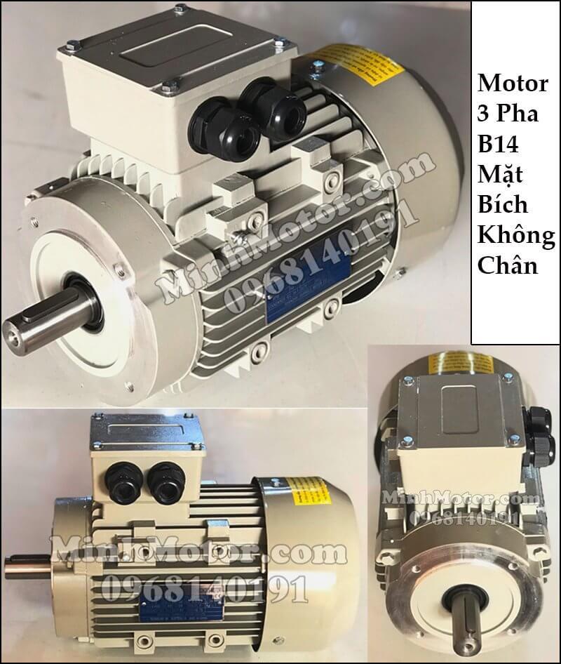 motor 3 pha mặt bích B14