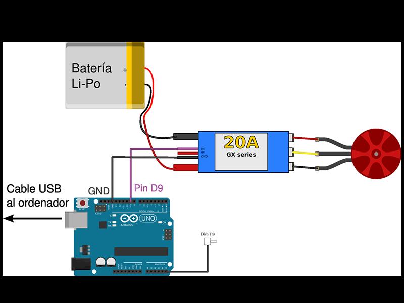 Điều khiển động cơ không chổi than dùng Code Arduino