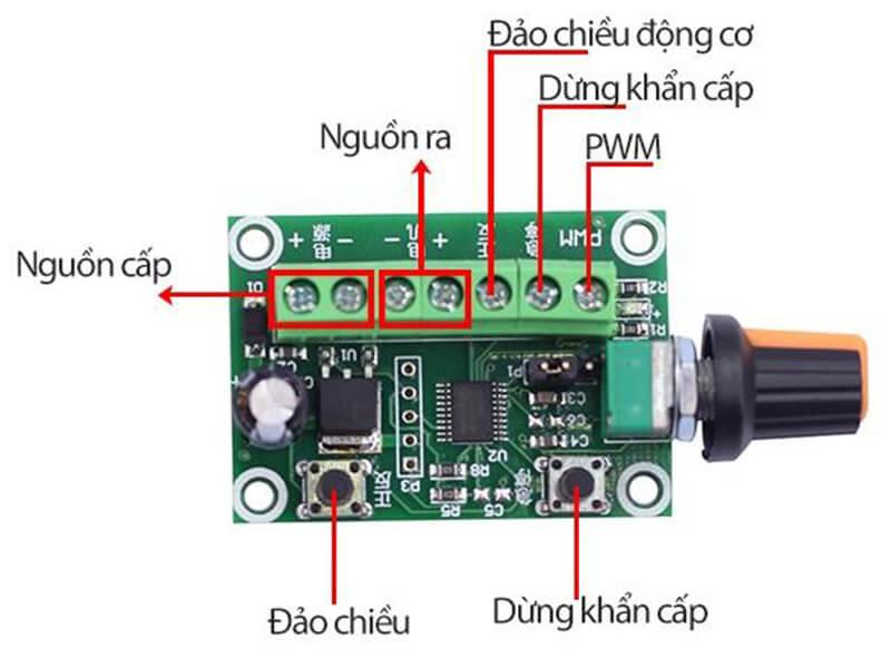 Module điều khiển động cơ không có chổi than 3 pha vô cấp đảo chiều