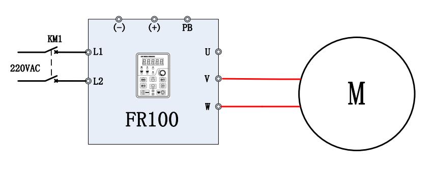 Sơ đồ điều khiển động cơ chạy một chiều bằng biến tần không loại bỏ tụ