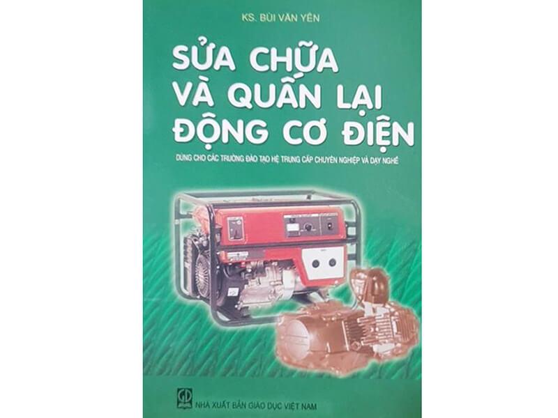 Hình ảnh cuốn sách sửa chữa và quấn lại động cơ điện