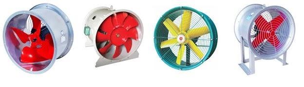 Người ta thường lắp đặt các loại quạt hướng trục trong các nhà xưởng