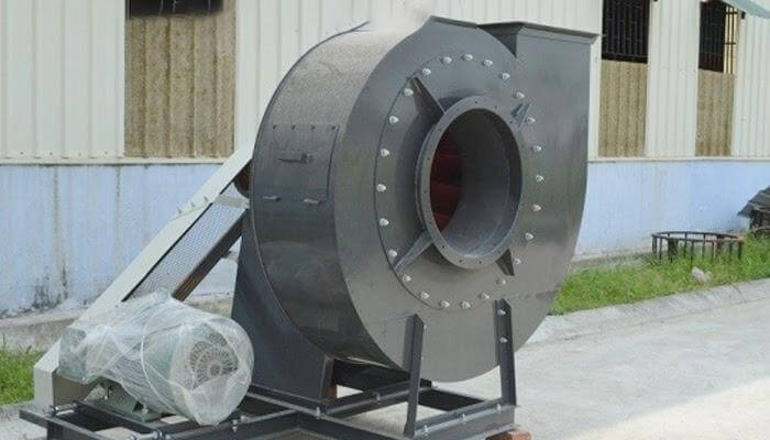 Quạt hút ly tâm được dùng để hút khí trong các nhà xưởng