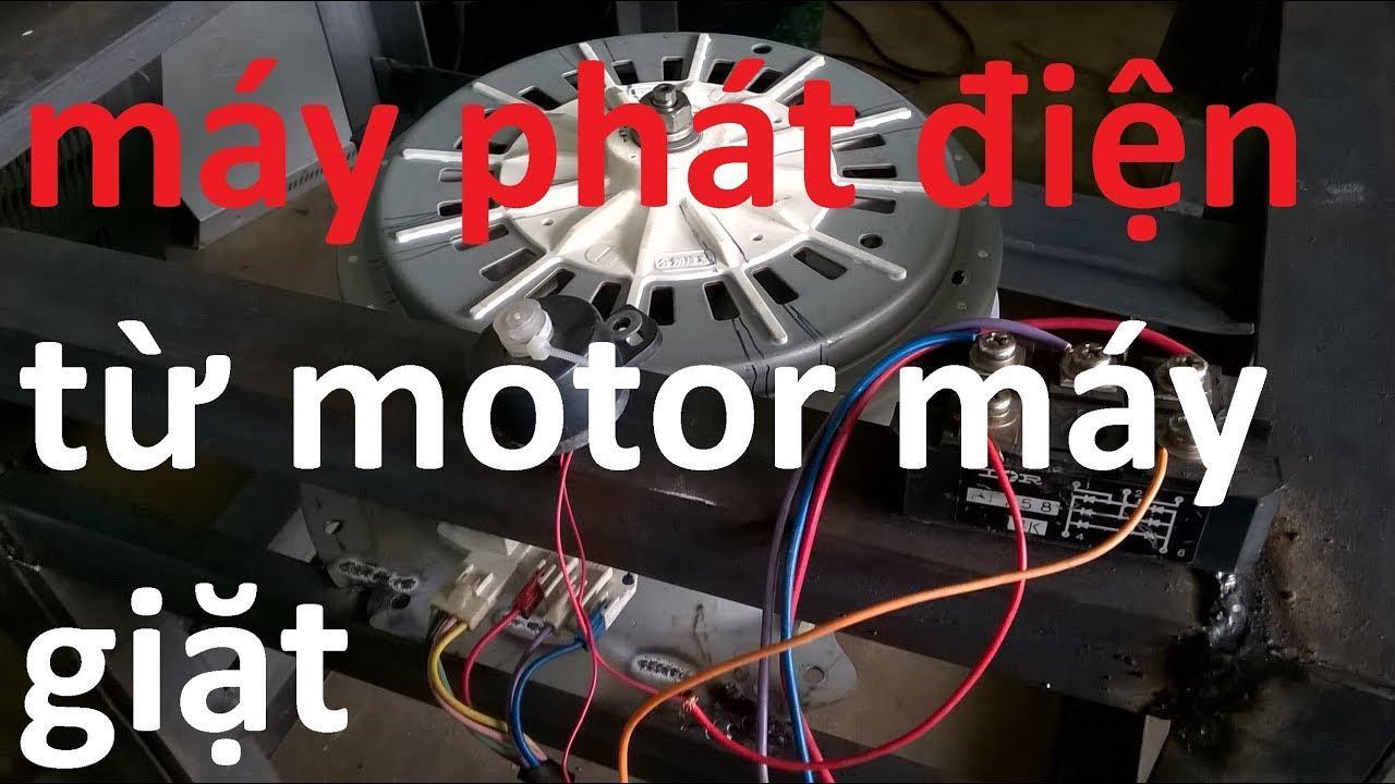 Cách làm máy phát điện từ motor máy giặt cũ