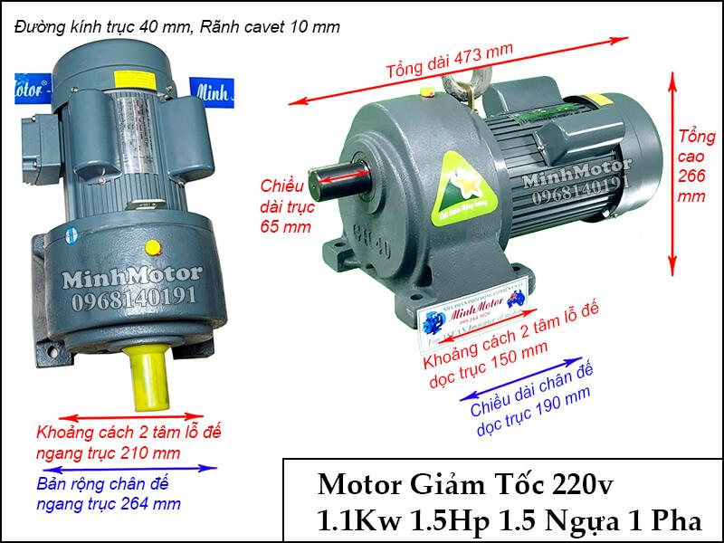 bản vẽ motor GHC 1.5kw 2Hp