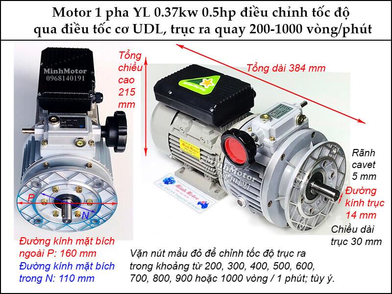 Bộ điều tốc motor 220v UDL 1 cấp