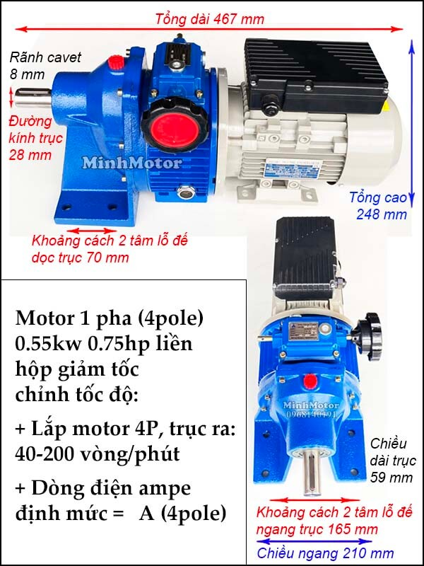 Bộ điều tốc motor 220v UDL 2 cấp