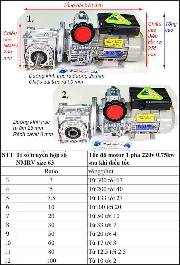 Bộ điều tốc motor 220v RV