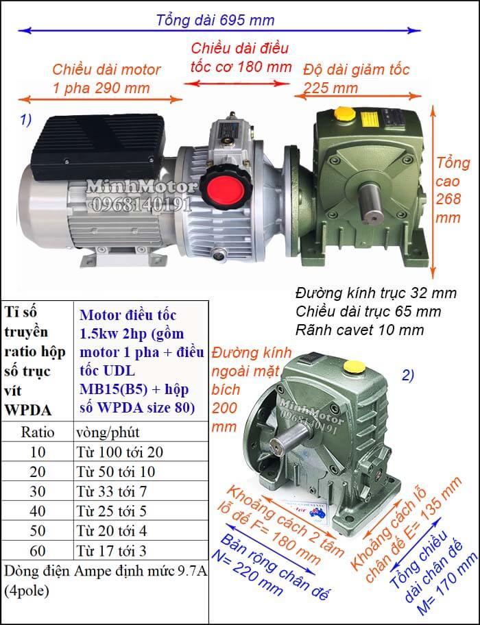 Bộ điều chỉnh tốc độ motor 220v WP