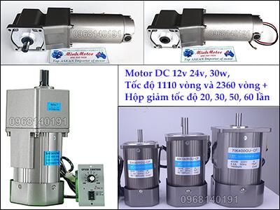 Động cơ điện 1 chiềuDC hoạt động sử dụng dòng điện 1 chiều