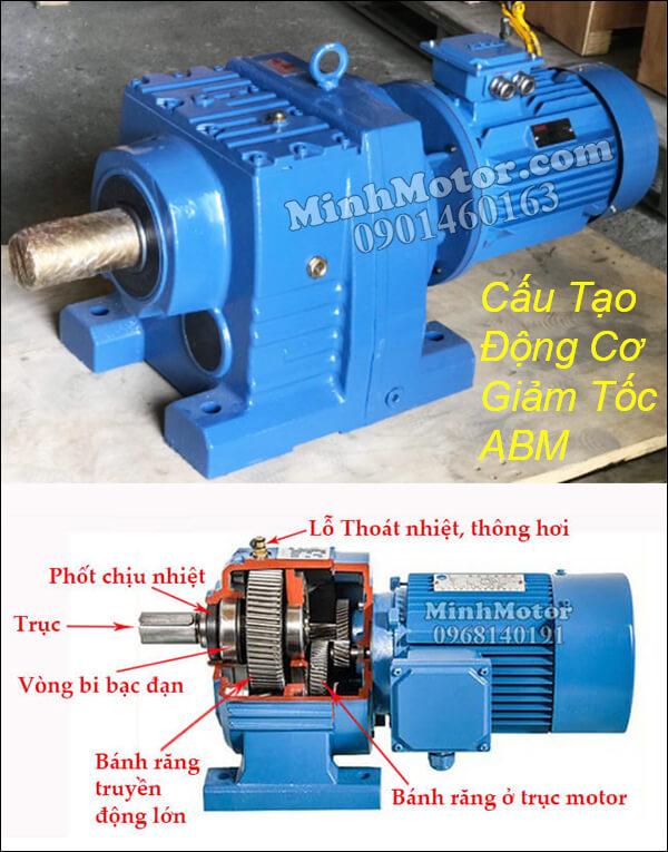 Cấu tạo motor giảm tốc ABM