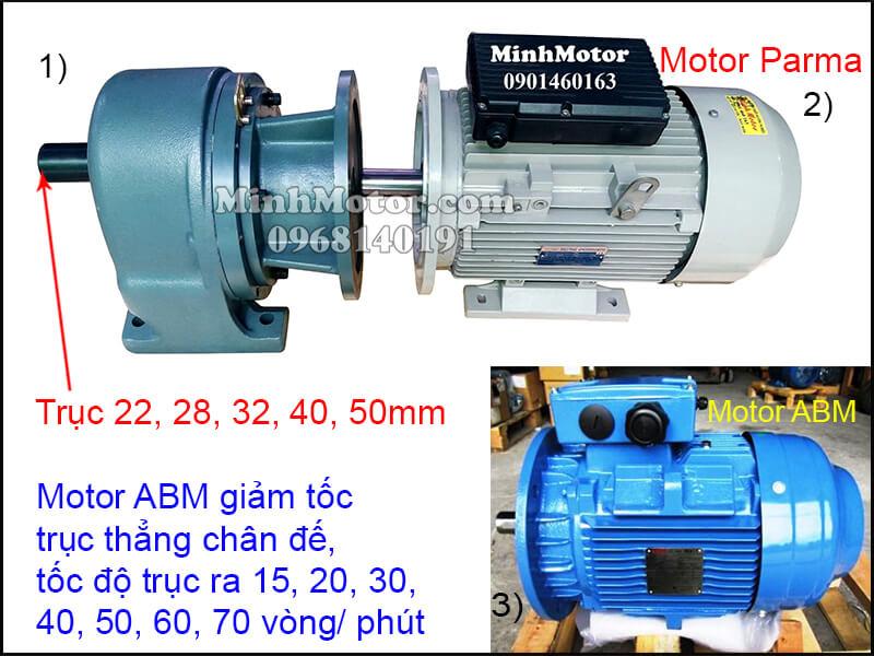 Động cơ giảm tốc ABM giảm tốc trục thẳng