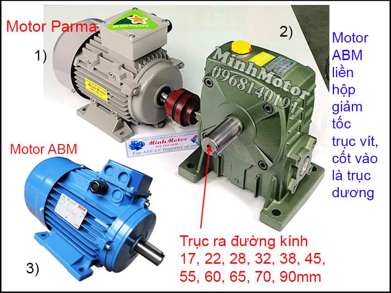 Motor ABM 3 Pha chân đế lắp đặt khớp nối
