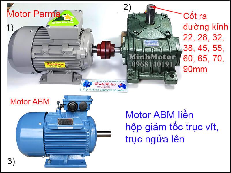 Động cơ điện ABM 3 Pha chân đế lắp đặt khớp nối