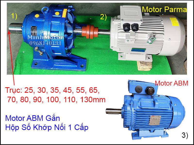 Động cơ điện ABMT 3 Pha chân đế lắp đặt khớp nối