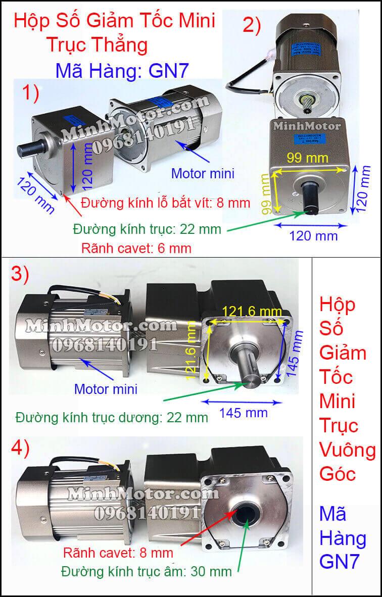 Giảm tốc mini công suất 15w tới 400w