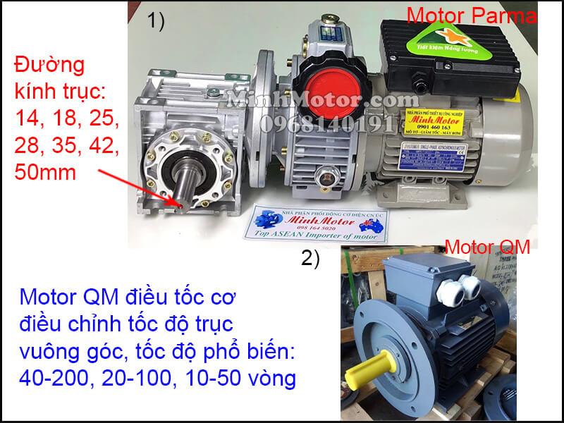 Động cơ QM mặt bích chỉnh tốc độ