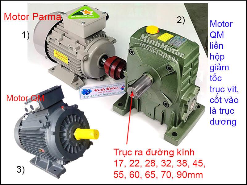 Motor QM 3 Pha chân đế lắp đặt khớp nối