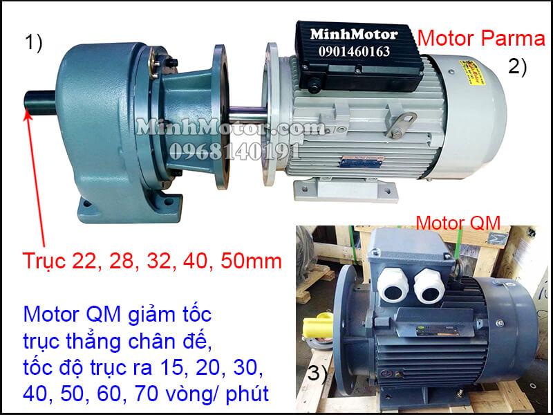 Motor QM giảm tốc trục thẳng