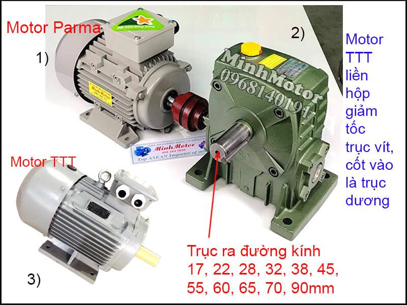Motor TTT 3 Pha chân đế lắp đặt khớp nối