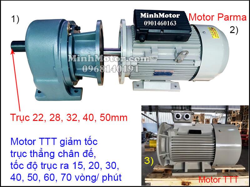 Motor TTT giảm tốc trục thẳng