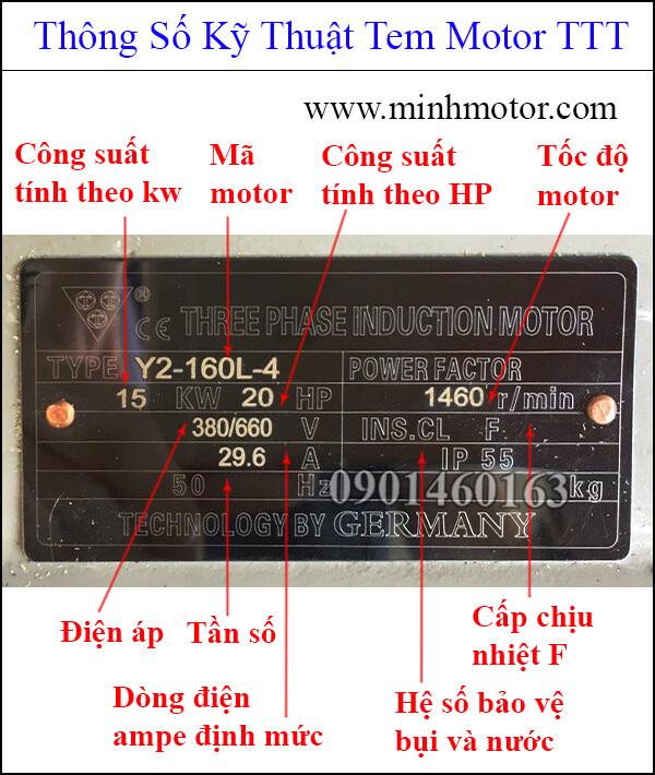Thông số kỹ thuật tem motor TTT