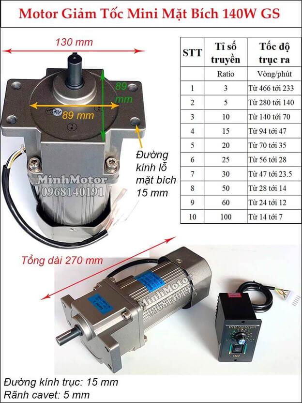 Bộ điều khiển tốc độ motor 220v mặt bích loại nhỏ