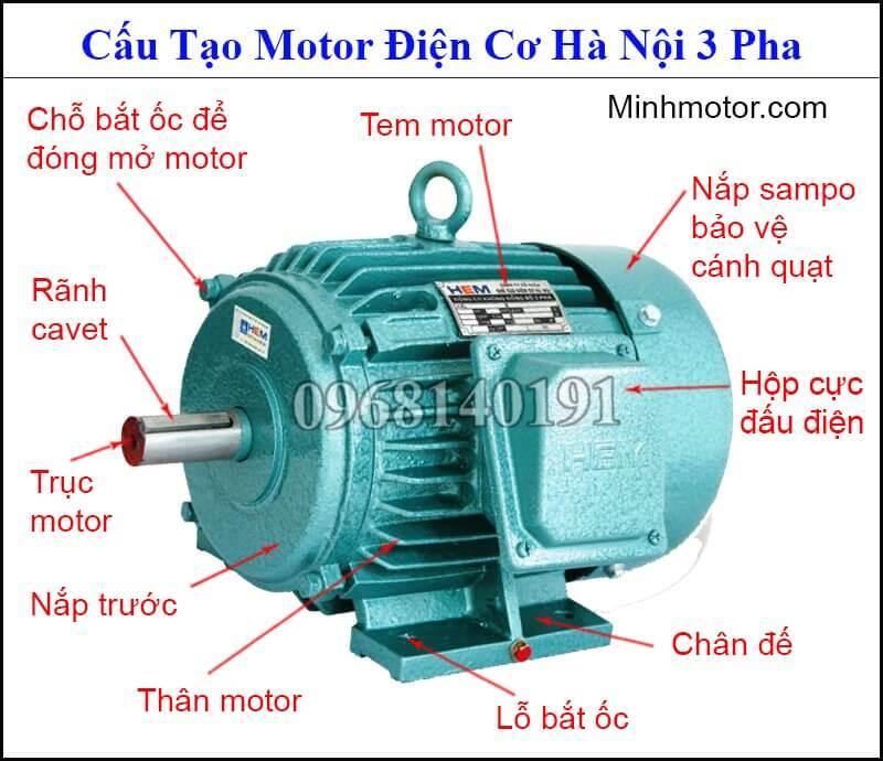 mô tơ điện cơ Hà Nội 3 pha