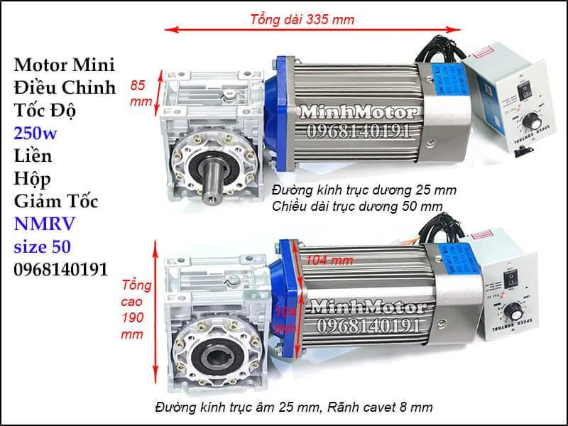 Motor nhỏ chỉnh tốc độ trục vuông góc