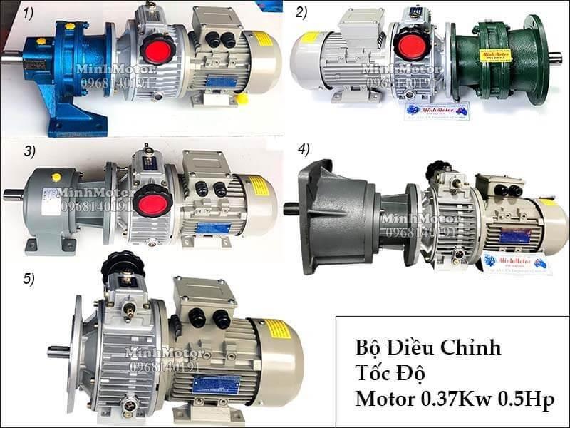 Động cơ điều tốc độ 0.37kw tới 7.5kw, 3 pha, 1 pha