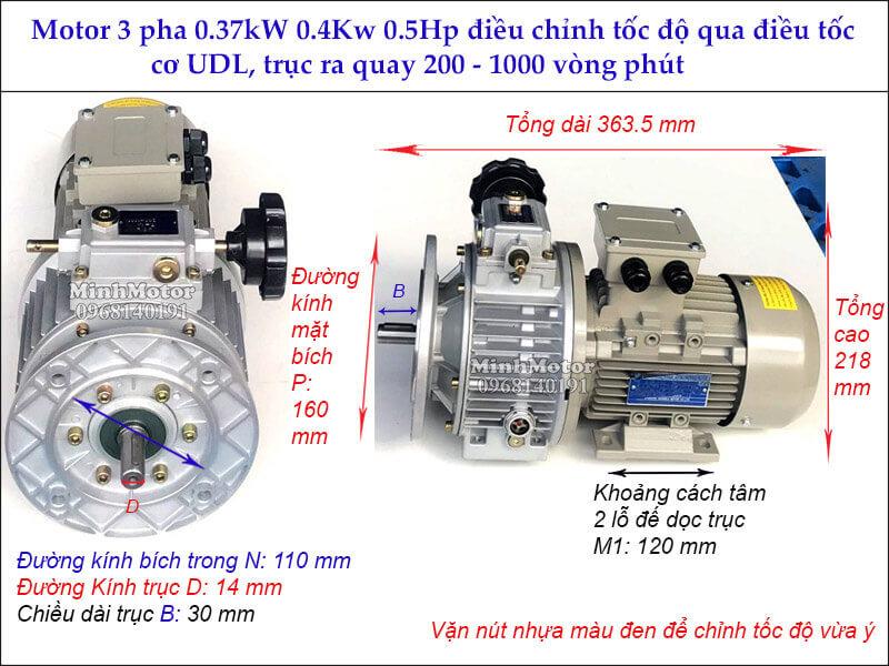 Motor 400w điều tốc cơ