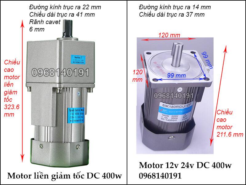 Motor 400w điện 1 chiều DC