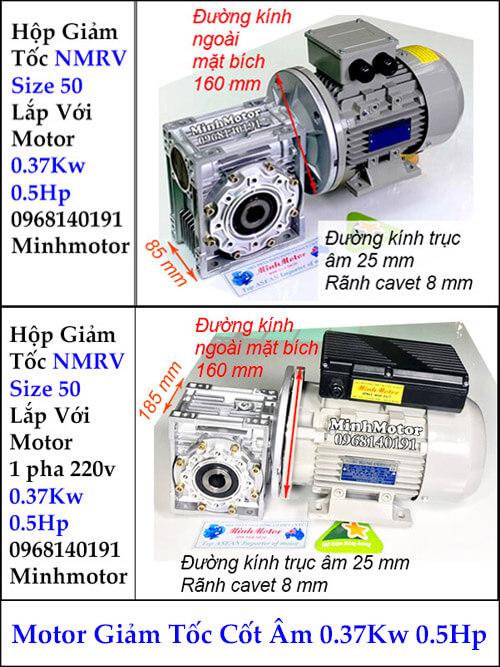 Motor hộp giảm tốc cốt âm 37Kw 0.4Kw 0.5Hp RV