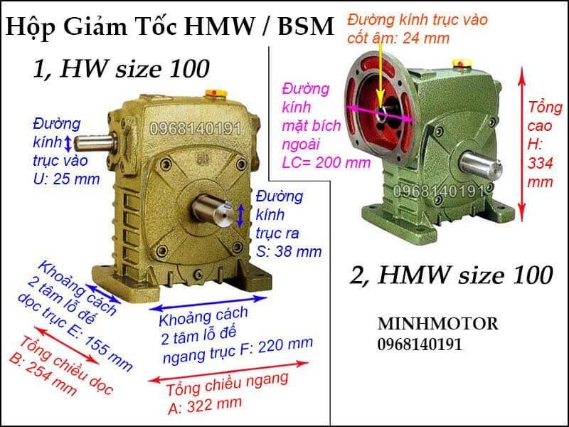 Hộp số HMW BSM size 100