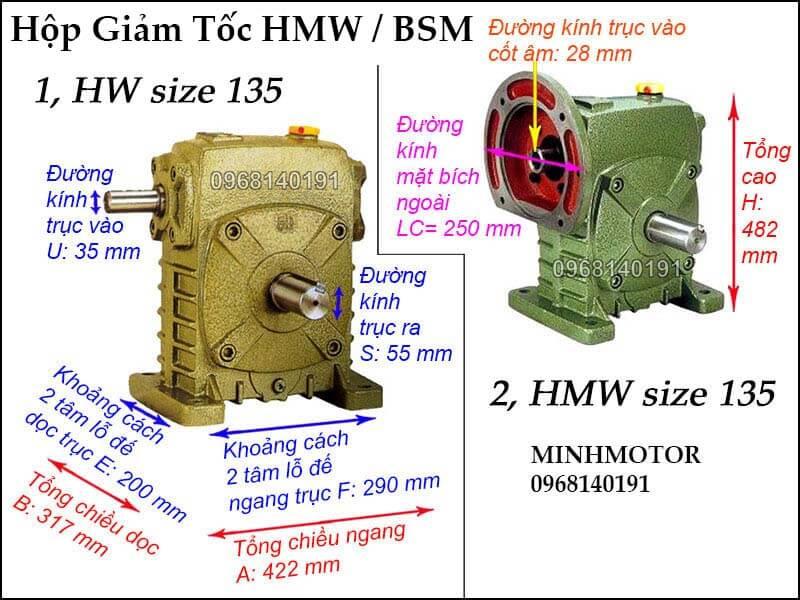 Hộp số HMW BSM size 135