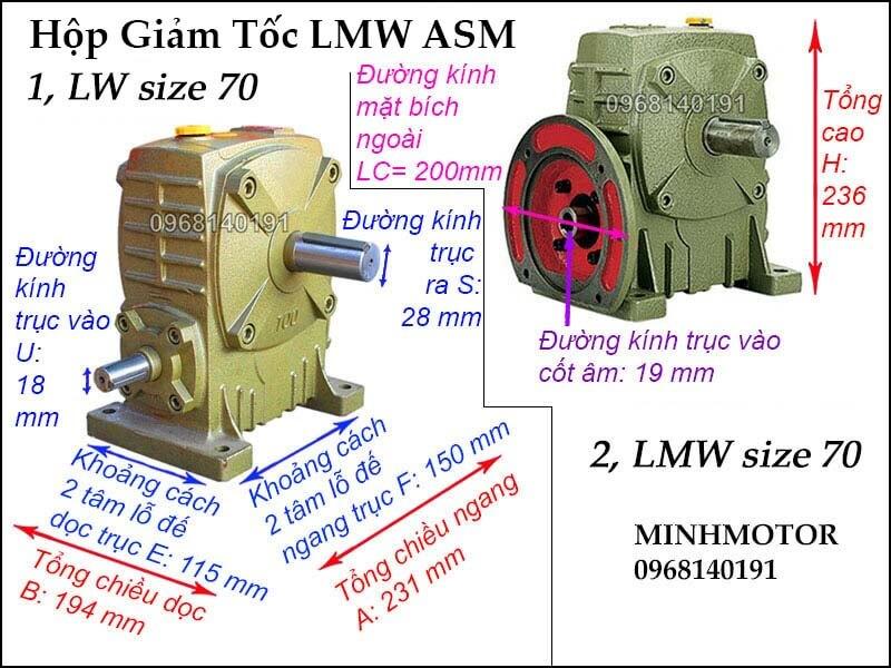 Hộp giảm tốc LMW ASM size 70