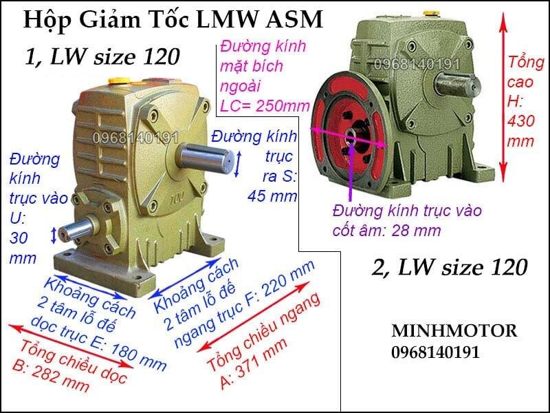 Hộp số LMW ASM size 120