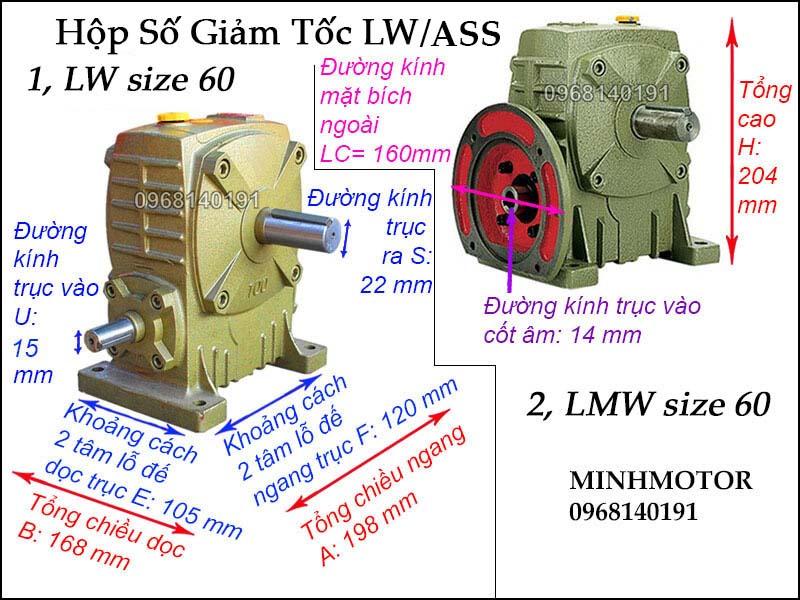 Hộp số LW ASSsize 60