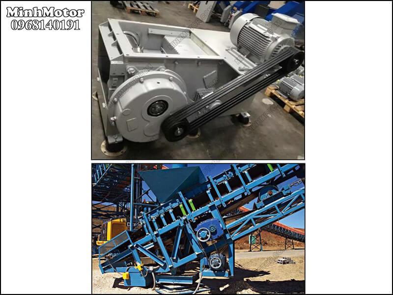 hộp giảm tốc treo trên máy làm nghề khai thác mỏ kim loại
