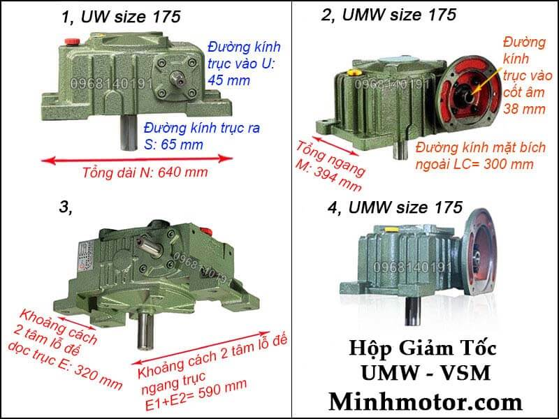 Hộp giảm tốc UMW VSM size 175