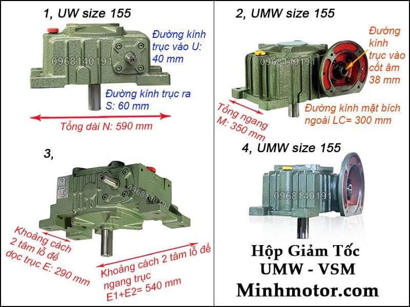 Hộp số UMW VSM size 155