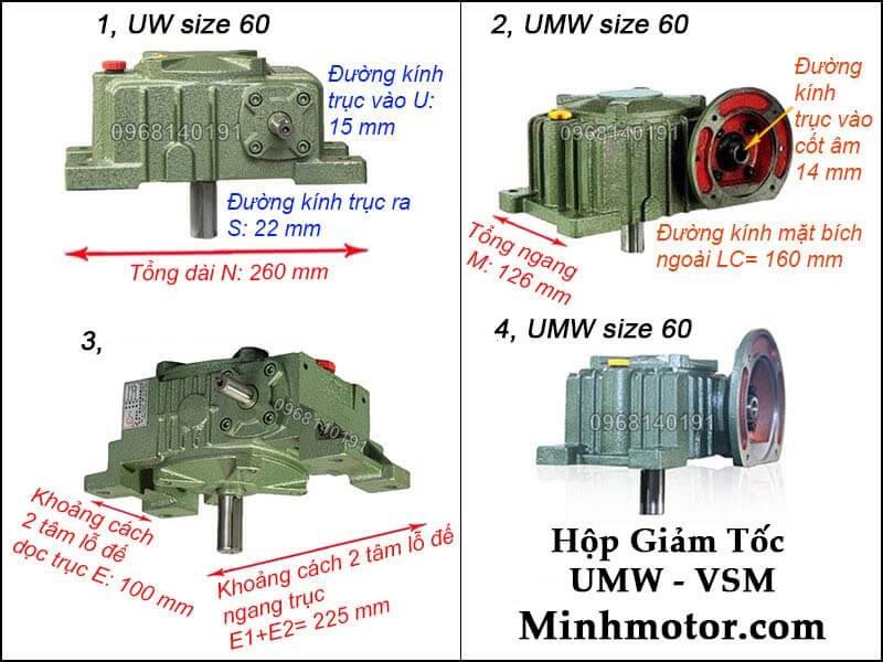 Hộp số UMW VSM size 60