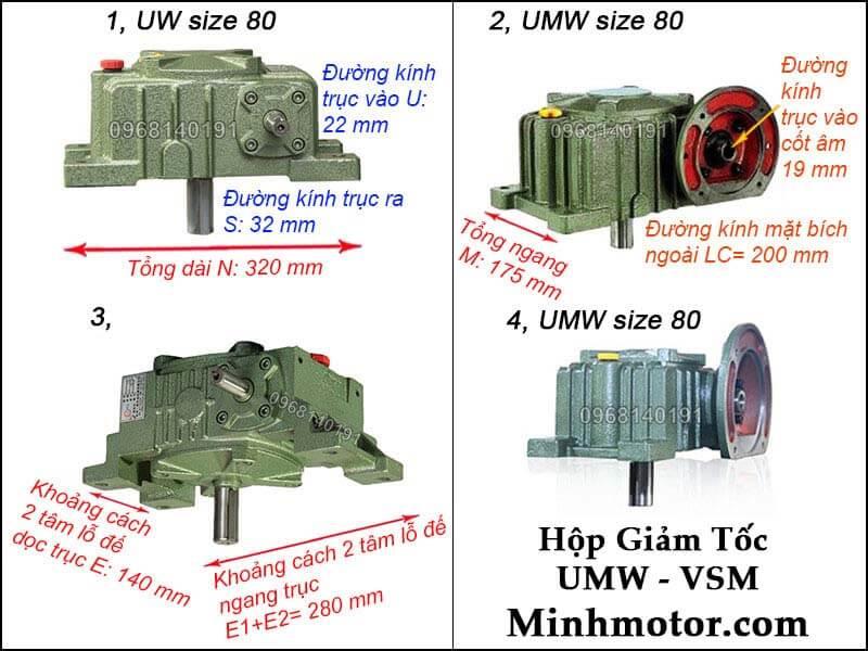 Hộp số UMW VSM size 80