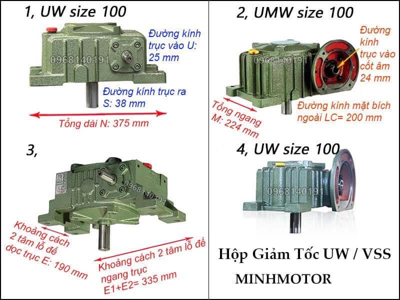 Hộp giảm tốc UW VSS size 100